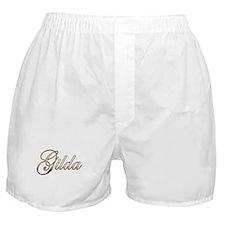 Gold Gilda Boxer Shorts