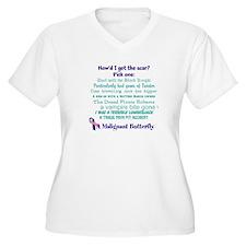 Malignant Butterfly V-Neck Plus Size T-Shirt