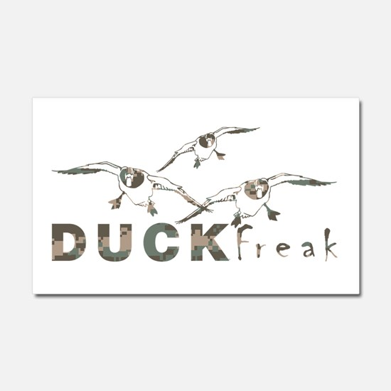 DUCK FREAK Car Magnet 20 x 12
