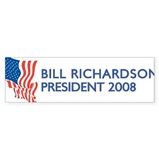 BILL RICHARDSON for President Bumper Bumper Bumper Sticker