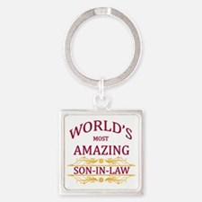 Son-In-Law Square Keychain