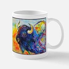 Colorful buffalo, southwest art Mugs