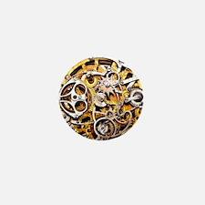 Steampunk Gears Mini Button