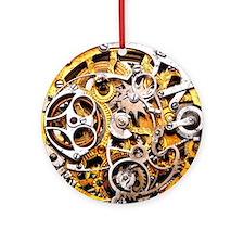 Steampunk Gears Round Ornament