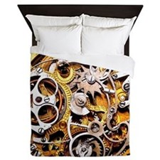 Steampunk Gears Queen Duvet