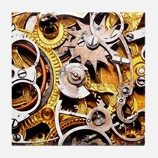 Steampunk Gears Tile Coaster