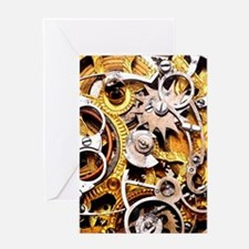Steampunk Gears Greeting Cards