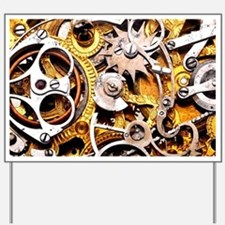 Steampunk Gears Yard Sign