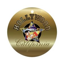Hollywood CA Walk Of Fame Ornament (Round)