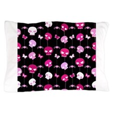 Girlie Skulls Pillow Case