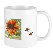 Sunflower With Butterfly Mugs