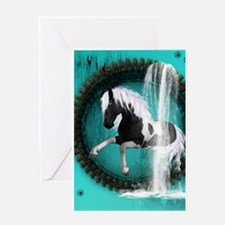Awesome horse Greeting Cards