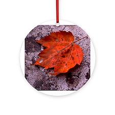 Red Oak Ornament (Round)