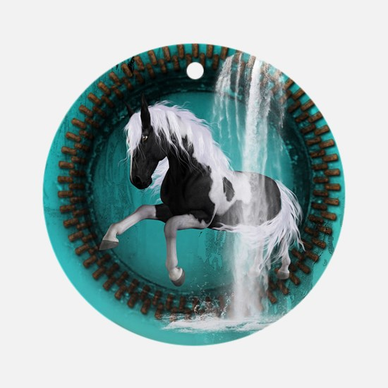 Awesome horse Ornament (Round)