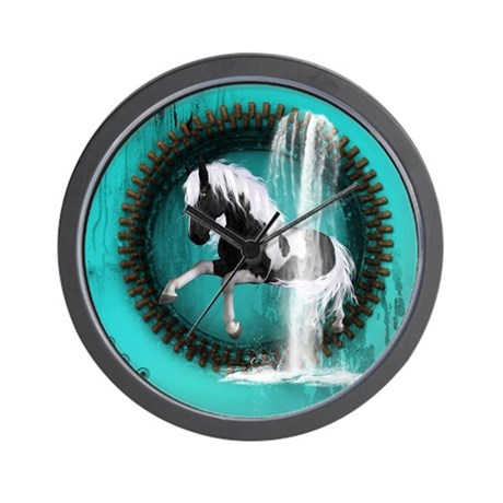 Awesome Horse Wall Clock By Fantasyworld7