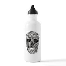 floral skull design Water Bottle