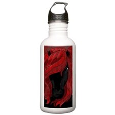 Horse with red hair Water Bottle