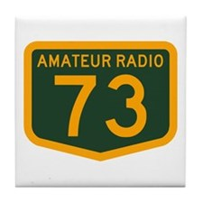 Amateur Radio 73 Tile Coaster