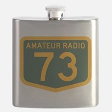 Amateur Radio 73 Flask
