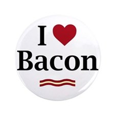 """I Love Bacon 3.5"""" Button (100 pack)"""