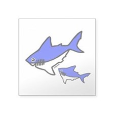 "Sharks Square Sticker 3"" x 3"""