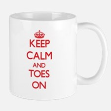 Keep Calm and Toes ON Mugs
