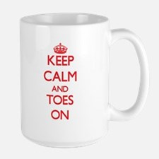 Keep Calm and Toes ON Mugs