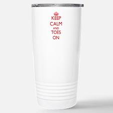 Keep Calm and Toes ON Travel Mug