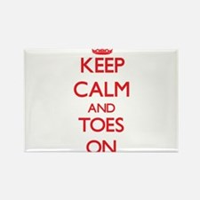 Keep Calm and Toes ON Magnets