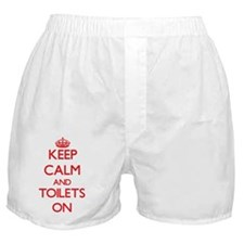 Keep Calm and Toilets ON Boxer Shorts