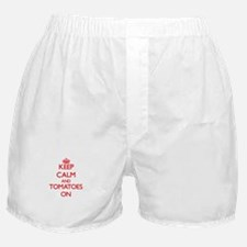 Keep Calm and Tomatoes ON Boxer Shorts