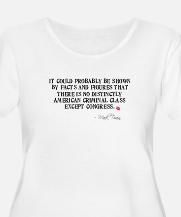 Mark Twain Criminal Congress T-Shirt