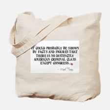 Mark Twain Criminal Congress Tote Bag