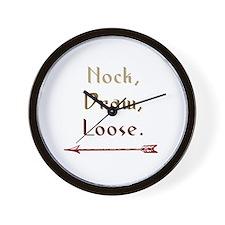 Nock, Draw, Loose. Wall Clock