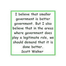 scott walker quote Sticker