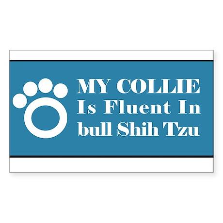 Collie Rectangle Sticker