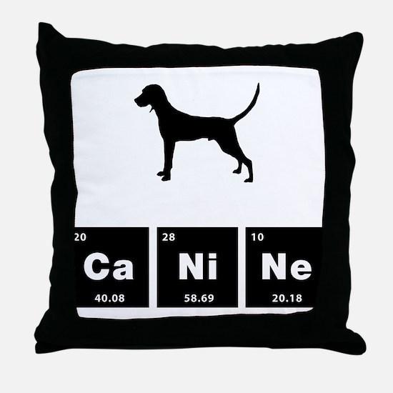Redbone Coonhound Throw Pillow
