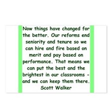 scott walker quote Postcards (Package of 8)