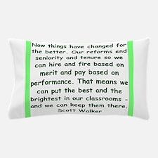 scott walker quote Pillow Case