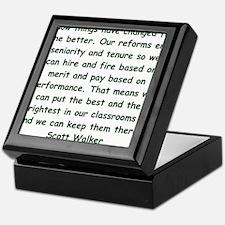scott walker quote Keepsake Box