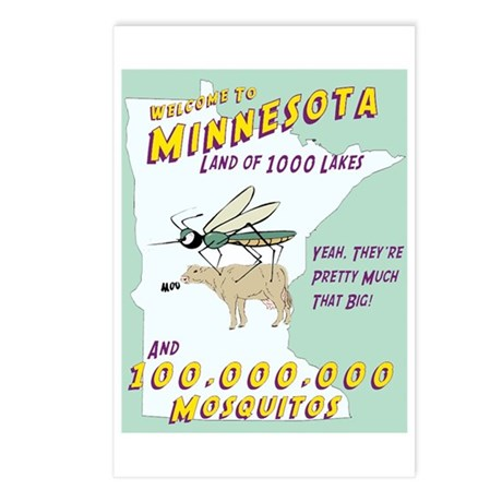 Minnesota Mosquitos Postcards (Package of 8)