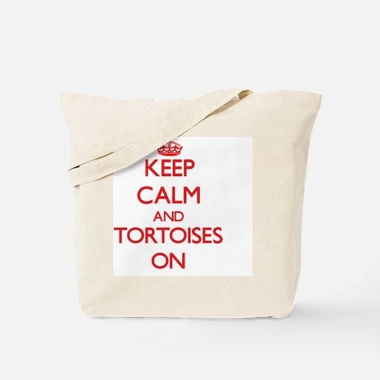 Keep Calm and Tortoises ON Tote Bag