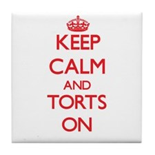 Keep Calm and Torts ON Tile Coaster
