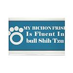 Bichon Rectangle Magnet (100 pack)