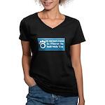 Bichon Women's V-Neck Dark T-Shirt