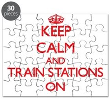 Keep Calm and Train Stations ON Puzzle