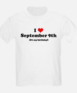 I Love September 9th (my birt T-Shirt