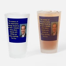 Cute Cruz Drinking Glass