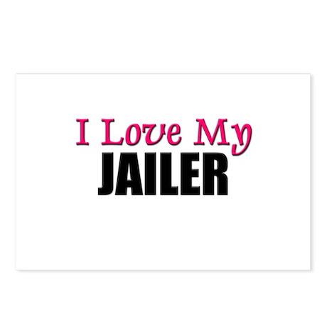I Love My JAILER Postcards (Package of 8)