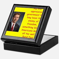 rand paul quotes Keepsake Box